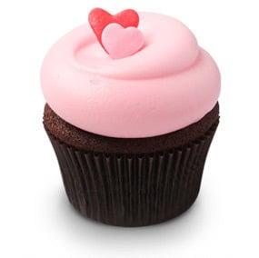 valentinsdag chokolade cupcake hjerte valentines