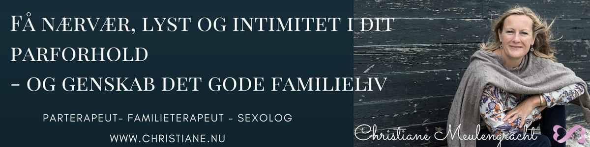Parterapeut og sexolog, Familierådgivning i Nordsjælland. Christiane Meulengracht